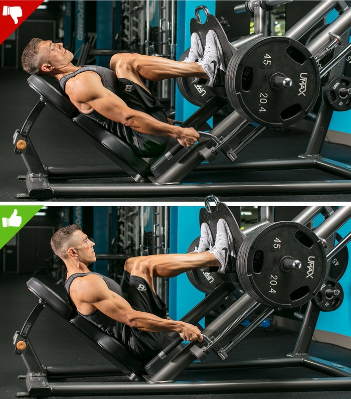 Leg Press Foot Placement Guide